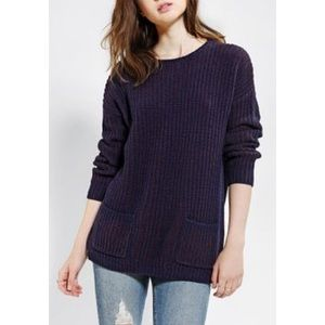 Coincidence & Chance Navy Knit Tunic Sweater